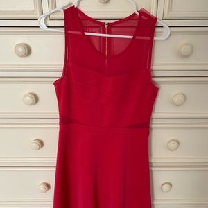 Guess Red Dress with Criss Cross & Mesh